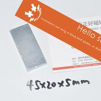 Super Strong Neodymium magnets N35, 45X20X5mm 100 PCS , block magnets  Super Powerful Strong Neodymium Magnet