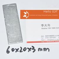 Super Strong Neodymium magnets N35, 60X20X3mm 100 PCS , block magnets  Super Powerful Strong Neodymium Magnet