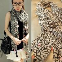 2014 Fashion cotton scarf women Korean version geometric patterns winter scarves shawls