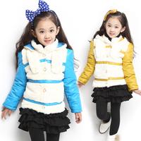 children's winter fashion clothing female child wadded jacket outerwear thickening outerwear