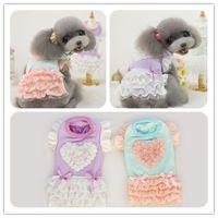 New !! can send sweet love princess dress pet clothes dog dress