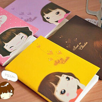 12pcs/lot Wholesale Free shipping New Fashion Cute Lovely Girl Notebook Memo Pads scratch pads MemoNotepads/agenda book-4styles