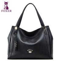 FOXER new 2014 women handbag designers brand women leather handbags fashion shoulder bags vintage wristlet genuine leather totes