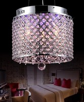 2014 new designs single head colorful LED crystal pendant lamp iron planted for dinning room/lobby /living room