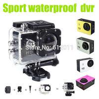 Free Shipping Original SJ4000 Action DVR Camera 30Meters Waterproof Full 1080P 170 Degree Lens HDMI Bike Helmet Camera