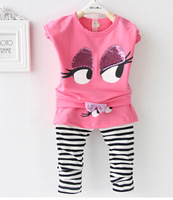 Free shipping 2014 children the spring and autumn period and the new suit Han edition two-piece of the girls
