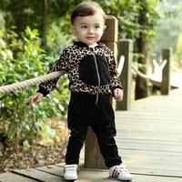 Autumn baby clothing leopard animal conjunto de roupa clothing set roupa infantil baby boy girl clothing set kids clothes sets
