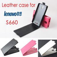 Lenovo s660 Case Flip Cover LUXURY PU Leather Phone Cases For Lenovo S660 Mobile Phone Black Rose White Color Freeshipping