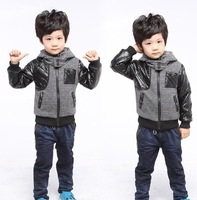 New arrive 2014 Boys coats & jackets spring Autumn Winter Coat Casual Sweater hoodie boy jacket boy clothes outwear clothing