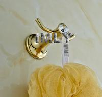 Diamond Design High Quality Glod Finishing  Bathroom Accessories Wall Hook ,Robe Hook,Bathroom Coat Hook   B-GT.010