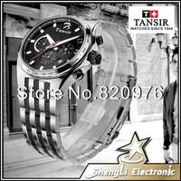 Hot 2014 New Gentleman Stainless Steel Luminous Man's Sport Leisure Quartz Three Eye Six Stitches Multi-functional Watch BY6010