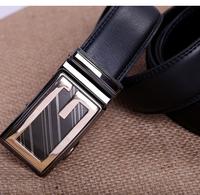 2014 Designer high quality cow genuine leather men belts for men strap male metal automatic buckle hip belt QY354