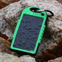 Genuine three anti- fashion rain drop resistance polymer solar panel mobile power bank Dual USB solar charger battery