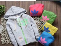 Hot sale 2014 brand Design Kids Toddlers coats Top Zipper Hoodies boys/girls jacket Age 2-5 free shipping