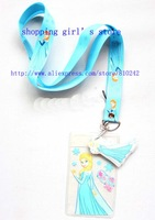 New Hot 10pcs Cartoon Frozen Blue Lanyard/Work cards/ key chains /Neck Strap Lanyard wholesale