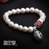 Ms fashion 8 mm natural freshwater pearl bracelet national wind of jewelry