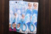 New Sale 10pcs/lot- 2014 new fashion cute cartoon Frozen scissors Handmade products Stationery School Tools