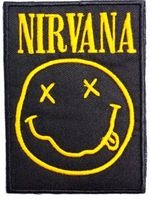 NIRVANA Classic Smiley Logo Music Band Embroidered NEW IRON ON and SEW ON Patch Heavy Metal Custom design patch available