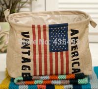 Zakka Linen clothes toys magazine sundry ruffle storage basket USA