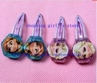 40pcs/20 pairs Frozen hair clips 2014 new Princess Elsa Anna girls cartoon hairpins kids hair accessories hair claws Headwear