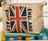 Zakka Linen clothes toys magazine sundry ruffle storage basket UK