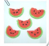 Free Shipping/ Cute watermelon crochet flower/ Baby Headband Appliques/ Hand-made knitting flower Applique