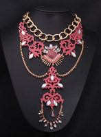 Free Shipping New 2014 Ethnic Joker Sweet Acrylic Charm Necklaces & Pendants Fashion Jewelry Items Statement Jewelery Women