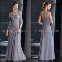 Lace One Shoulder Crystal Long Sleeve Shawl Bolero Wrap Jacket Mother of the Bird Dresses Custom Made 2 4 6 8 10+ Style:E204