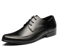 New fashion black pointed toe shoes male shoes high quality men dress shoes