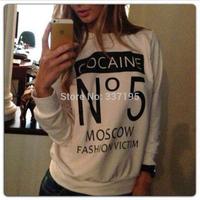 new woman's 3d printed sweatshirt sportswear CO NO.5 letters hoodies hip hop streetwear brand long-sleeve tshirt pullover