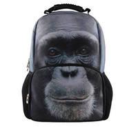 2014 Big Sale !  3D Animal Felt Backpack Men's Orangutan School Backpack Bag Men Travel Backpacks College Student Book bag  B54