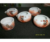 ES045 Jingdezhen China ceramic bird feeder cup,Hand painted,Zhongdaotu design,5Pcs one sets,Free shipping