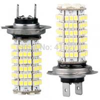 2pcs Car VEHICLE H7 3528 SMD 120 LED White Fog Light Bulbs Lamp