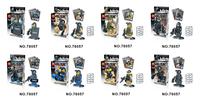 LELE 78057  8pcs  Squad Navy Seal Team SWAT Army Police City Officer Riot Figures Building Blocks Model Toys Minifigures bricks