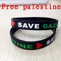2014 hot sell wholesale palestine flag silicone bracelet palestine bracelet