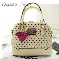 New 2014 Popular Women Classic polka dot Handbag High quality Shoulder Bag Female Fsahion Bow messenger Bag S4252