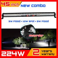 45inch 224w CREE LED Light Bar IP67 10-30v 12v 24v Offroad COMBO For ATV SUV LED WorkLight External Light Save on 120w 180w 240w