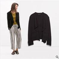 L260 2014 new fashion autumn casual women long sleeve suit solid black blazer women