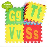 Promotion Eco-friendly 26 pcs/ Lot Letters Puzzle EVA Floor Mats Puzzle Mats Kids Puzzle Patchwork Floor mats EDD004