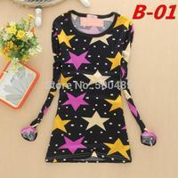 2014 women fashion t shirts clothing harajuku women punk Long sleeve crop top Women T-shirt discounts vintage style