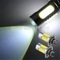 2pcs White H7 5 SMD LEDs Car Auto Daytime Running Fog Light Lamp Bulb 7.5W