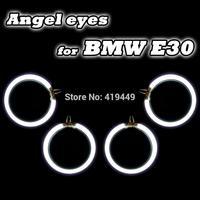 CCFL Angel Eyes Rings Kit For BMW E30 E32 E34 LED Angel Eye Bulbs WHITE BLUE YELLOW RED 4 RINGS