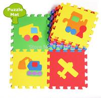 Promotion 10 pcs/ Lot  Traffic Cars Play mat child cartoon puzzle floor mat baby eva foam patchwork floor mats EDD005