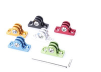 2pcs/lot Go pro Aluminum Adapter Mount,Blue/Sliver/Red/Green/Black/Gloden For Gopro Hero 4/3+/3/2/1/SJ4000 GP175