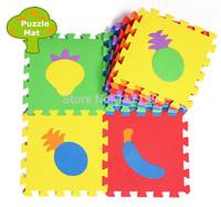 Promotion 10 pcs/ lot  Toy Fruit EVA Floor Mats Foam Puzzle Mats Eco-friendly Baby Patchwork Kids Play mats  EDD006