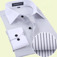 Special offer,2014 french office shirts men dress long sleeve shirt for business fashion  more colorS-4XL (DS0063)