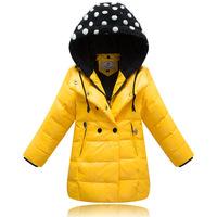 Thick Medium-long Children Outerwear Kids Down Parkas Girls Jackets and Coats Winter Jackets for Girls Snowsuit Hooded Collar