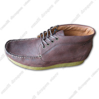 New 2014 special New England in the comfortable flat head layer cowhide leather pointer brown men's leather shoes