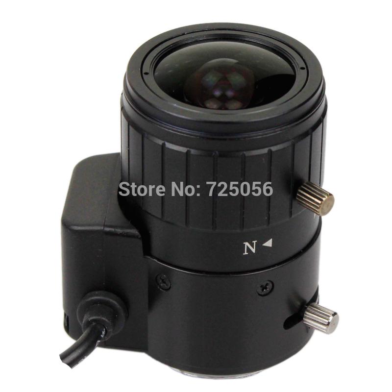 "Manual Iris Megapixel Varifocal Lens 2.8-12mm CCTV Security Camera HD CS Lens,1/3"" Image Format, Aperture F1.6, free shipping(China (Mainland))"