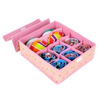 Hot Sale 30*34*12CM Non-Woven Fabric Folding 8 Grid Storage Box for Bra,Underwear,Socks organizer